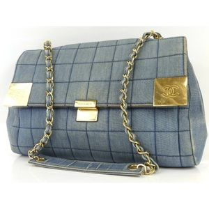 Chanel Denim Cloth Single Flap Shoulder Bag